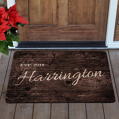 Family Scripted Name Doormat