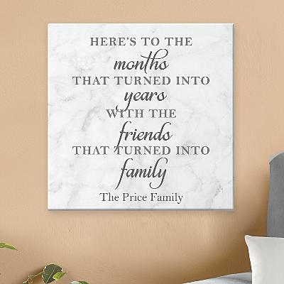 Friends Are Family Canvas