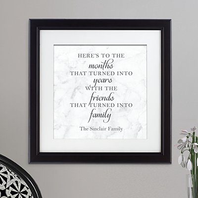 Friends Are Family Framed Print
