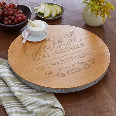 Gather At Our Table Lazy Susan