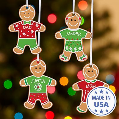 Gingerbread Cookie Family Ornament