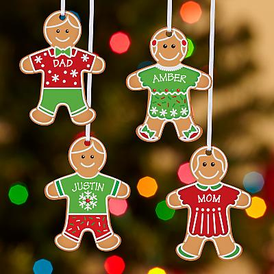 Gingerbread Cookie Family Bauble