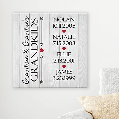 Grandkids Have Our Hearts Canvas