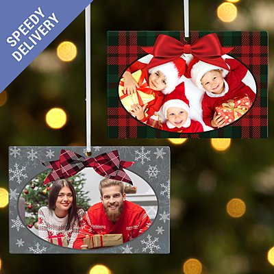 Greatest Gift Photo Rectangle Bauble - Snowflake