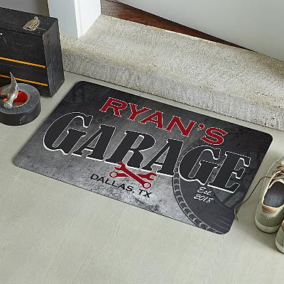 His Garage Doormat