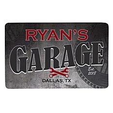 His Garage Doormat-17x27