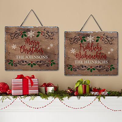 Languages of Christmas Slate