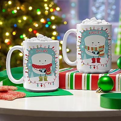 Lovable Marshmallow Christmas Mug