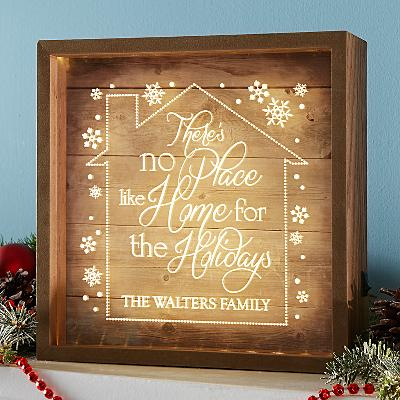No Place Like Home for the Holidays Light Box