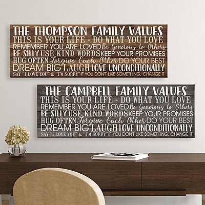Shiplap Family Values Canvas