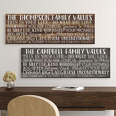 Shiplap Family Values Canvas