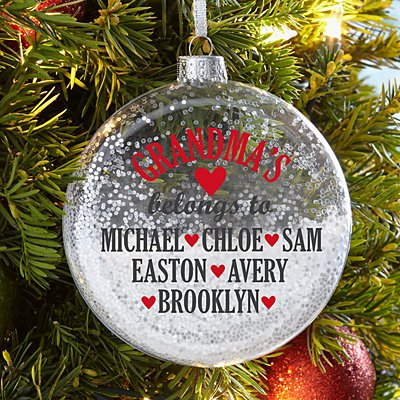 Special Blessings Glitter Glass Ornament