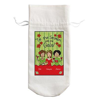'Tis the Season with the Girls Wine Bag - 3