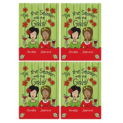 'Tis the Season with the Girls Wine Labels - 2