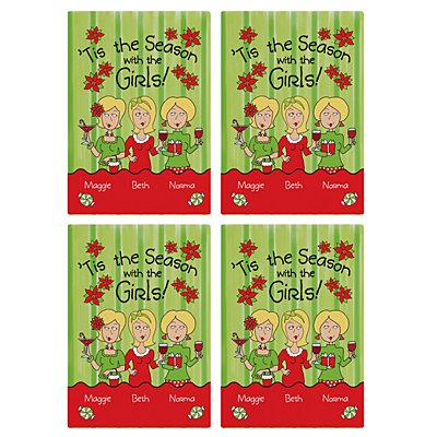 'Tis the Season with the Girls Wine Labels - 3