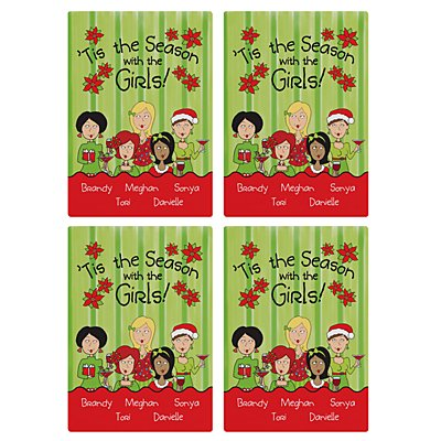 'Tis the Season with the Girls Wine Labels - 5
