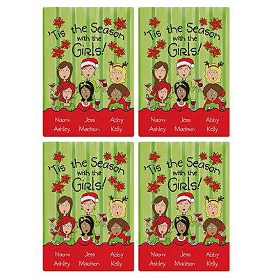 'Tis the Season with the Girls Wine Labels - 6