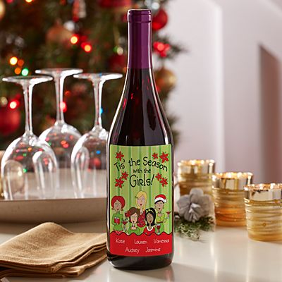 'Tis the Season with the Girls Wine Labels