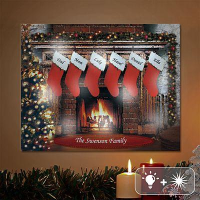 TwinkleBright® LED Christmastime Canvas