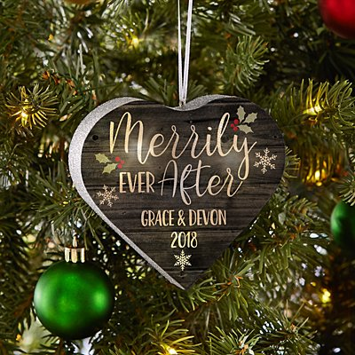 TwinkleBright® LED Merrily Ever After Heart Bauble
