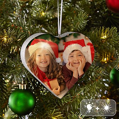 TwinkleBright® LED Photo Heart Ornament