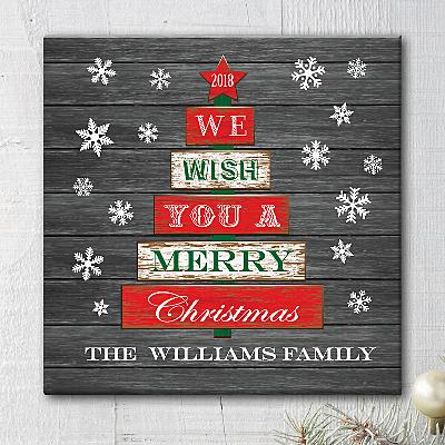We Wish You a Happy Christmas Canvas