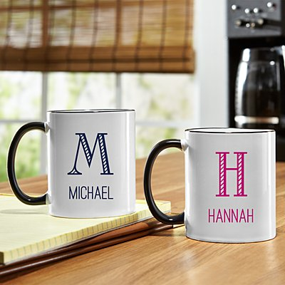 Whimsical Name & Monogram Mug