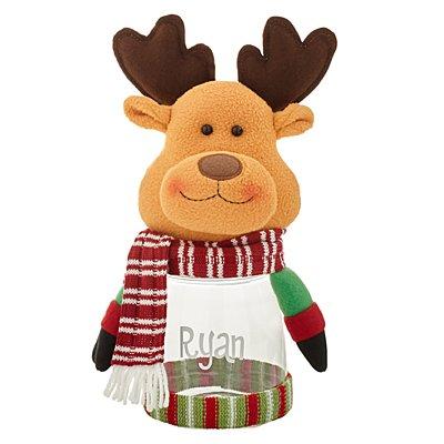 Winter Wonderland™ Plush Candy Jar- Reindeer