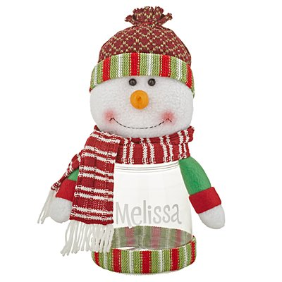 Winter Wonderland™ Plush Treat Jar - Snowman