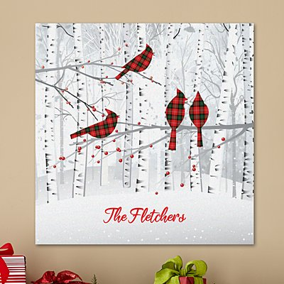 Winter Woodland Family Canvas
