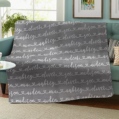 Written with Love Plush Blanket