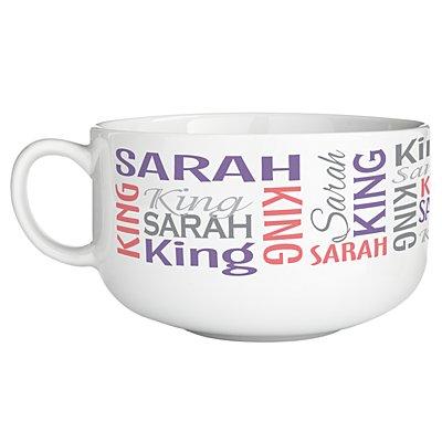 You Name It! Signature Bowl - Purple/Pink-Single Bowl