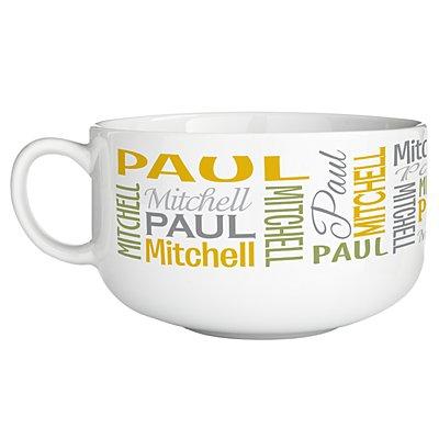 You Name It! Signature Bowl - Yellow/Green-Single Bowl
