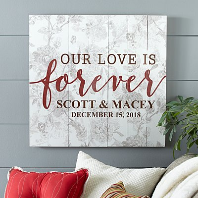 Our Love is Forever Oversized Wood Pallet Wall Art