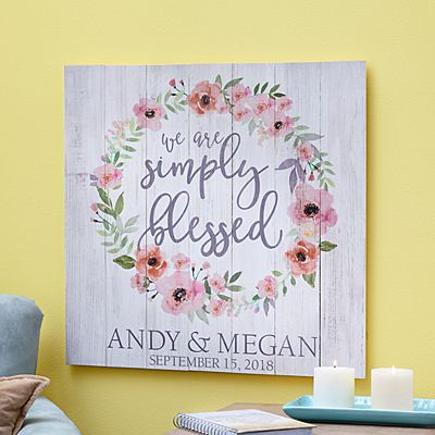 Simply Blessed Oversized Wood Pallet Wall Art