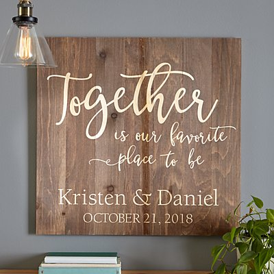 Together Is Our Favorite Place to Be Oversized Wood Pallet Wall Art