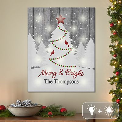 TwinkleBright® LED It's a White Christmas Canvas