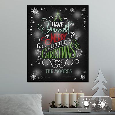 TwinkleBright® LED Merry Little Christmas Canvas
