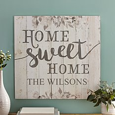 Floral Home Sweet Home Oversized Wood Pallet Wall Art