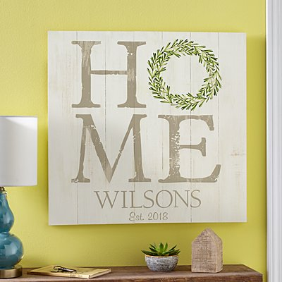 Home Wreath Oversized Wood Pallet Wall Art