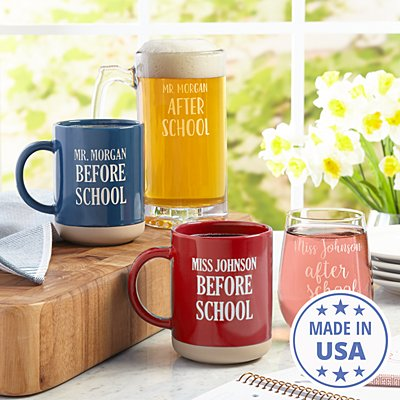 Before & After School Mug Set