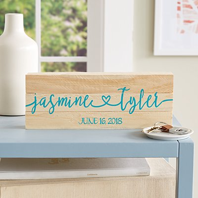 Always Together Wedding Mini Wood Pallet