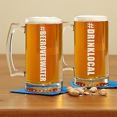 Hashtag Oversized Beer Mug