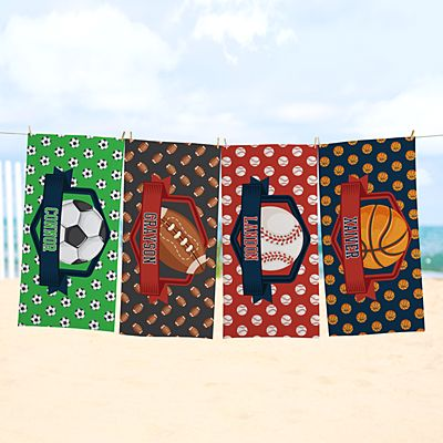 Sporty Fun Beach Towel