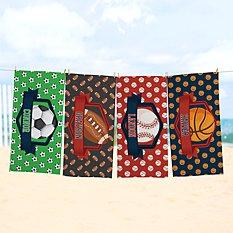Sporty Fun Beach Towel