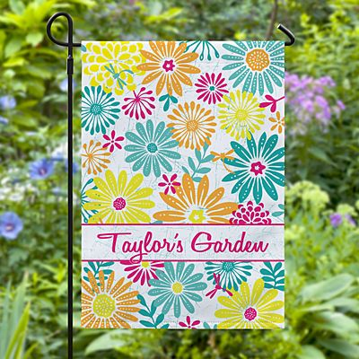 Bright Summer Flowers Garden Flag