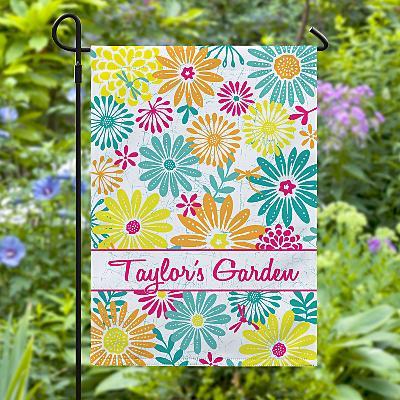 Bright Summer Flowers Garden Flag