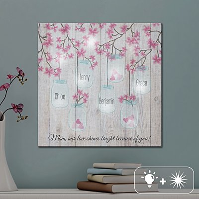 TwinkleBright® LED Lights of Love Canvas