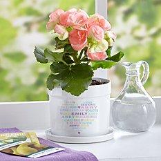 Pastel Heart Full of Love Flower Pot