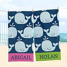 Whale Of A Tale Beach Towel
